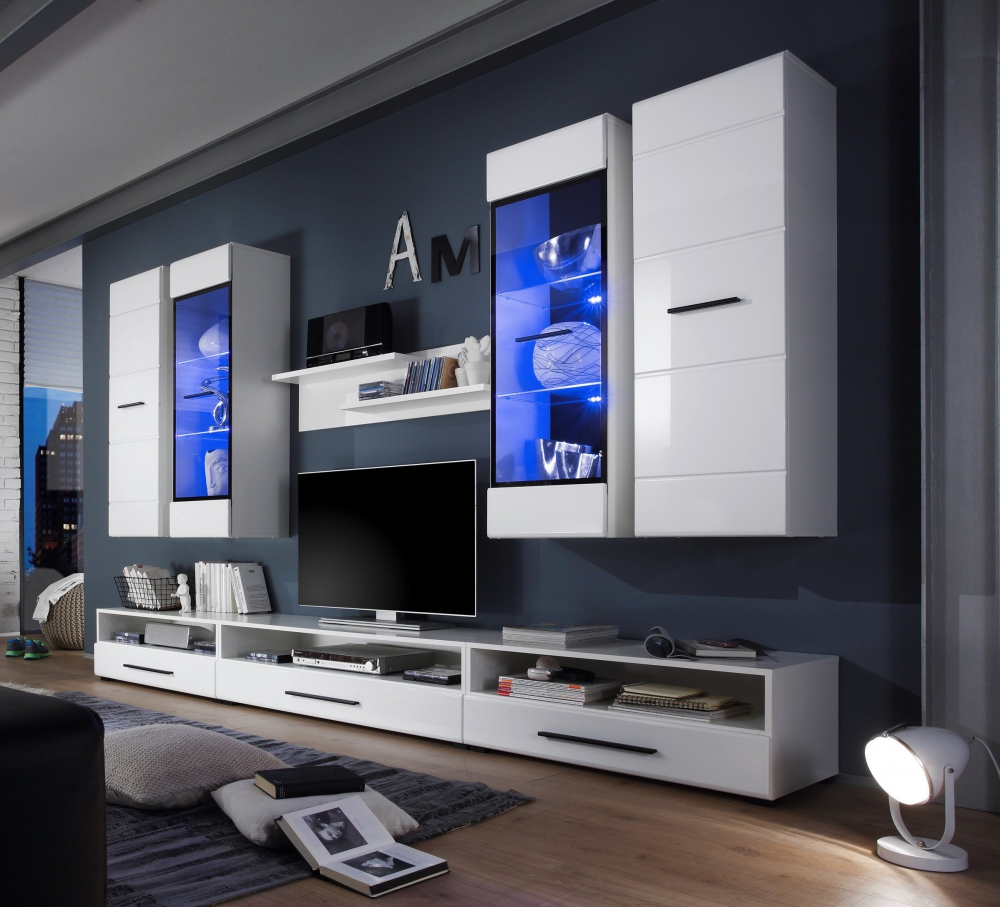 Living Room High Gloss Furniture Display Wall Unit Modern Tv Unit Cabinet Lauren Tv Stands Entertainment Units Modern Entertainment Centers Tv Stands